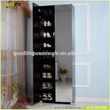 Tall Shoe Cabinet With Doors by Tall Wooden Shoe Rack Shoe Cabinet With Full Length Mirror Buy