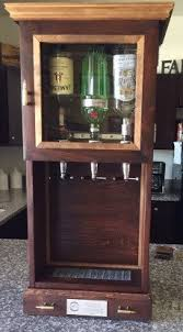 Mini Bar Cabinet 3 Dispenser Mini Bar Cabinet With Storage By Rusticgrovewoodshop