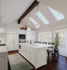kitchen lighting ideas for vaulted ceilings integrated microwave