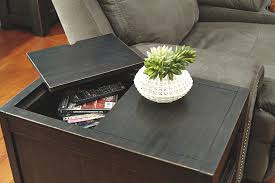 chairside table with charging station gavelston chairside end table ashley furniture homestore