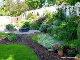 Backyard Flower Bed Designs Backyard Garden With Front Yard Ideas Landscaping Ideas Backyard