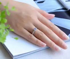 5mm ring simple design gemstone ring 5mm brilliant cut