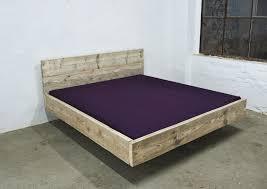 designer betten design bett aus bauholz 200 x 200 schwebend bed room upcycling