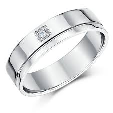 18ct white gold wedding ring his hers 4 6mm 18ct white gold diamond wedding rings 18ct