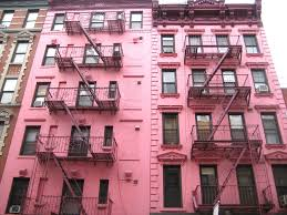 Color Pink by The Pinkest Houses In New York City Pink Houses Street And