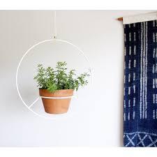 modern hanging planters white hanging planter metal plant hanger mid century plant
