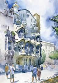 classical architecture watercolor mokotowska 57 by joanna