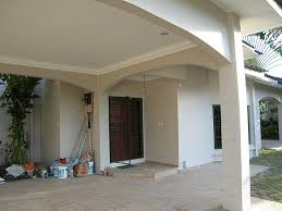 the malaysia project bungalow exterior paint and property walls color