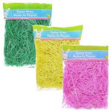 easter grass in bulk easter basket grass 3x3 oz bag green yellow pink