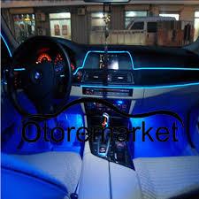 installing led lights in car 5m blue el wire car interior decor fluorescent neon strip cold light
