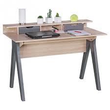 Schreibtisch 100 Cm Finebuy Schreibtisch 120 Cm Design Bürotisch Sonoma Eiche Grau