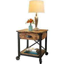 rustic pine end table better homes and gardens rustic country end table antiqued black