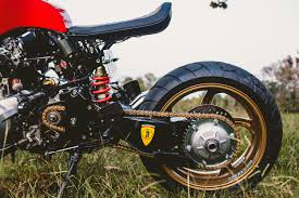 World Falcon Auto Salvage by Rosso Corsa A Honda Cafe Racer Inspired By A Ferrari Bike Exif