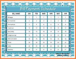 9 bill paying templates free stationery bills