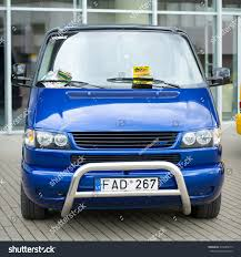 volkswagen multivan business vilniusmay 9 vw transportermultivancaravelle t4 tuning stock photo