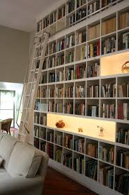 Lighting For Bookshelves by Bookcase Lighting Living Room Contemporary With Rolling Ladder