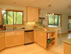 Maple Kitchen Cabinet Light Maple Modern Kitchen Cabinets White Ish Granite Counters