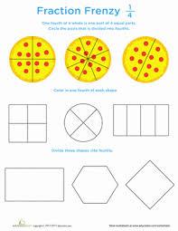 printable fraction worksheets for grade 4 fraction frenzy 1 4 worksheet education