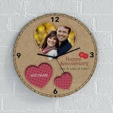 personalized anniversary clock stitches and buttons personalized anniversary clock gift send
