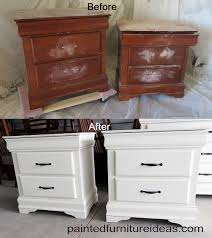 White Dresser And Nightstand Set 8 Drawer Dresser Makeover White Painted Furniture White Paints