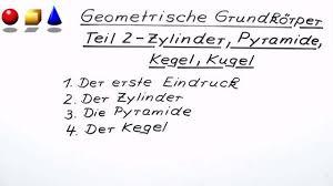 fläche kegel geometrische grundkörper zylinder pyramide kegel kugel