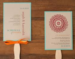 indian wedding programs indian wedding fan etsy
