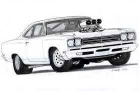 1969 plymouth roadrunner drawing by vertualissimo deviantart com