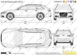dimension audi a6 the blueprints com vector drawing audi a6 allroad quattro