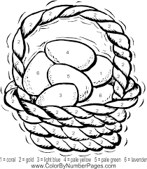 easter coloring pages numbers by number coloring pages