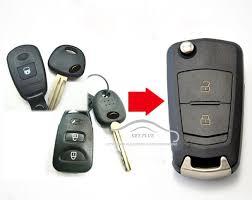 hyundai elantra alarm modified flip remote key shell 2 buttons fob for split