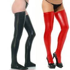 fp womens stockings spandex thigh latex socks glam rock gothic