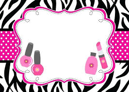 spa party invitations together with zebra spa party
