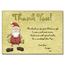 christmas thank you cards jolly santa christmas thank you note