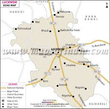 map on road lucknow road map