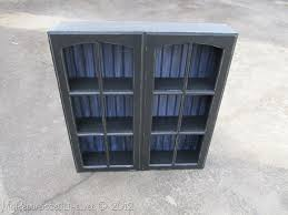 repurposed cupboard doors into a cabinet