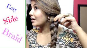 black hair styles for for side frence braids easy side french braid step by step youtube