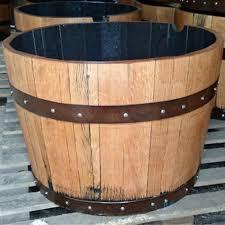 solid oak half whisky barrel planter