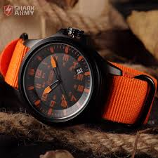 aliexpress com buy shark army brand orange nylon fabric band