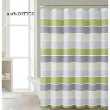 Gray Fabric Shower Curtain Victoria Classics 100 Cotton Fabric Shower Curtain Stripe Design