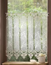 Linen Cafe Curtains Home Decor Macrame Lace Cafe Curtains