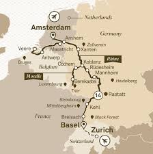 Black Forest Germany Map Romantic Rhine U0026 Moselle Scenic