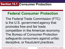 us federal trade commission bureau of consumer protection section ppt