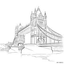 vector drawing of tower bridge london uk sticker pixerstick