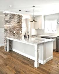 how to hang kitchen cabinets on brick wall white brick backsplash white brick in kitchen new exposed