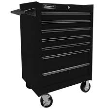 Kennedy Tool Box Side Cabinet Homak Professional 27 In 7 Drawer Rolling Cabinet Black