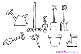 10 images of garden shovel coloring page garden tools coloring