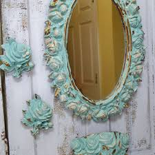 Shabby Chic Large Mirror by Shop Green Shabby Chic Mirrors On Wanelo