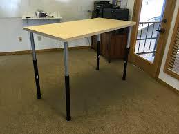 Ikea Adjustable Height Standing Desk Furniture Adjustable Height Table Legs Luxury Daniel At Work