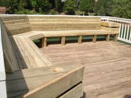 Bench Built Into Wall Decks With Benches Plans Diy Free Download How To Build A Wall