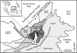 Brunei Map Present Day Stress Orientation In Brunei A Snapshot Of